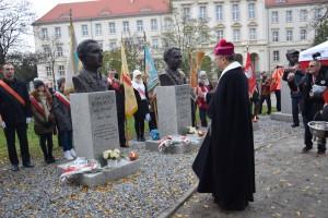 18.11.2017 - Odsłonięcie oraz poświęcenie popiersi żołnierzy podziemia antykomunistycznego